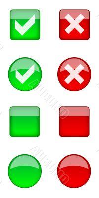 Web aqua buttons