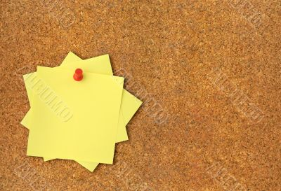 corkboard and adhesive notes XXL
