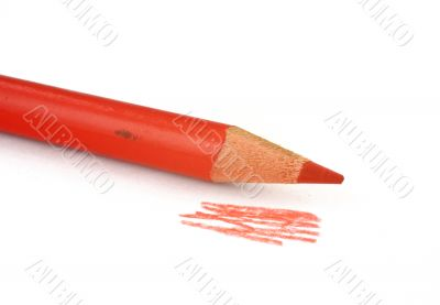part of red crayon