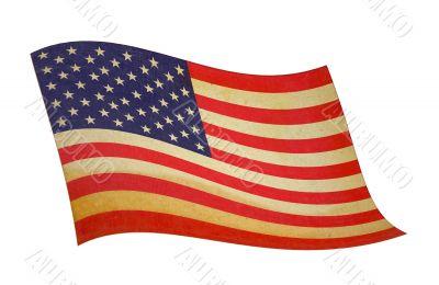 retro wavy american flag