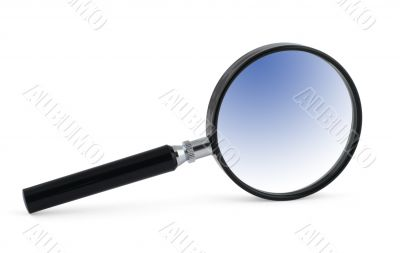 magnifying glass with blue inner shadow