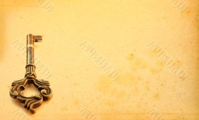 aged background with key motive