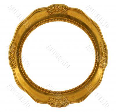 circular golden frame