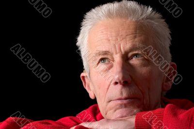 Serious looking older man
