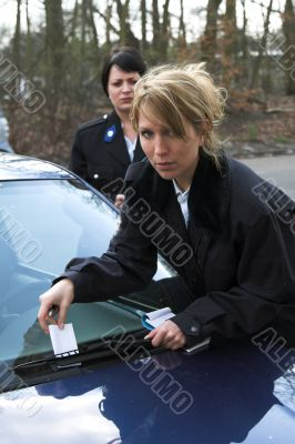 Giving a ticket
