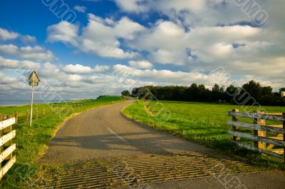 country road in the netherlands