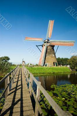 beautiful dutch windmill landscape