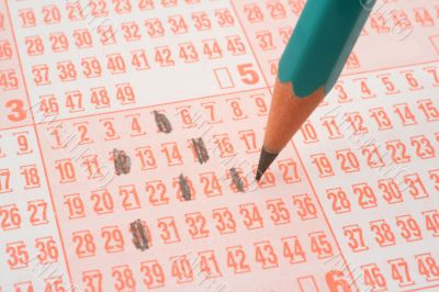lottery ticket and pencil #2