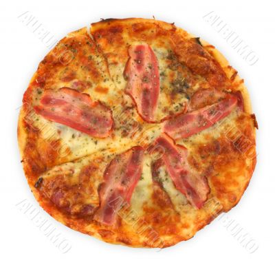 pizza with bacon