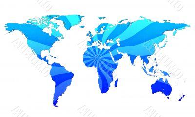 world map with burst