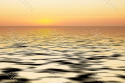abstract ocean and sunset background