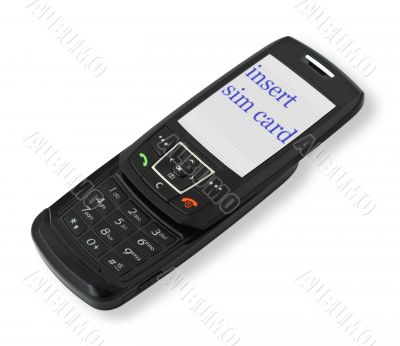 mobile phone with sim card message