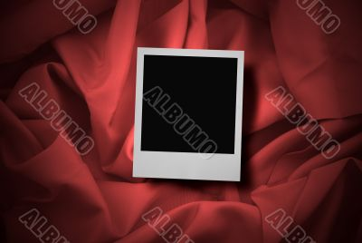 photo on red satin