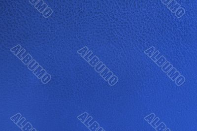 close-up of blue leather texture