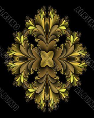 Shades of gold mandala medallion