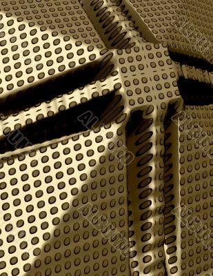 3d Abstract gold polka dots