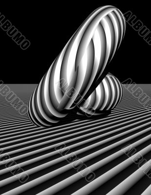 3d abstract stripe play