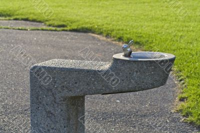 Water fountain in a public park