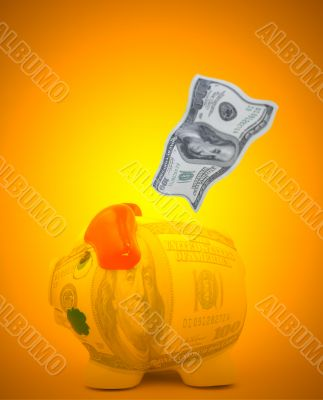 dollar savings concept