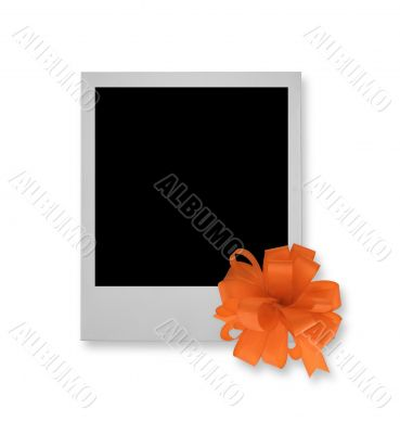single photo frame with decorative bow
