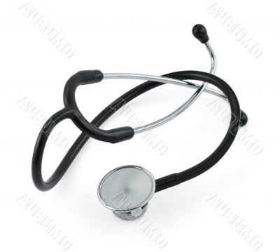 stethoscope isolated on white