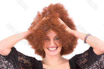 Curly wig fun