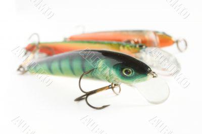 Three fishing lures
