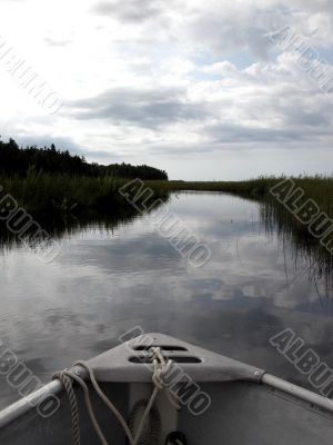 canoe on Moonlight Bay