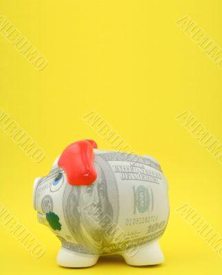 100 bucks piggy bank