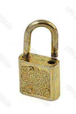 vintage padlock in open position