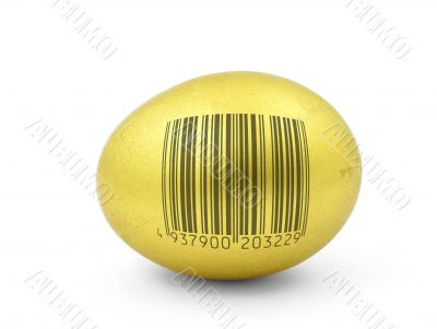 egg with fake bar code