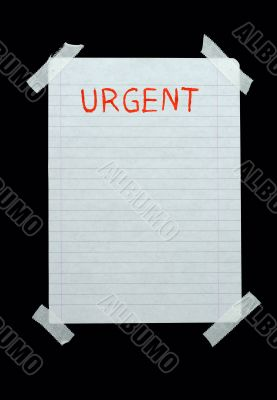 space for urgent notes