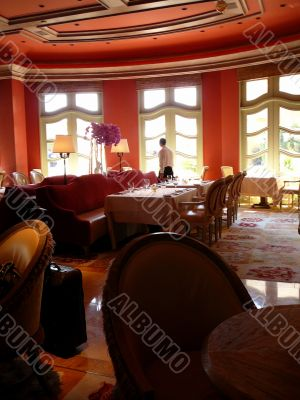 Formal Waiter in Elegant Dining Room