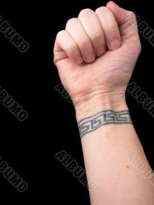 Fist with Wrist Tattoo