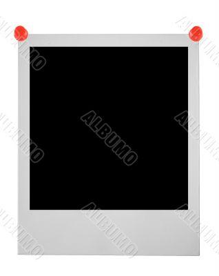 blank photo pinned