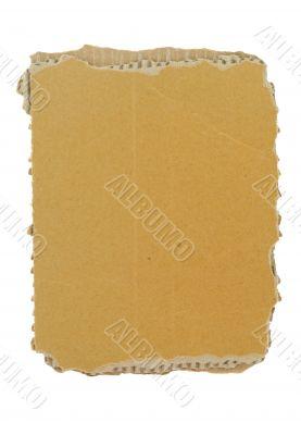 cardboard piece on white