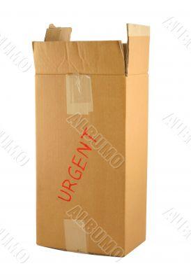 urgent cardboard box