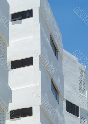Detail of apartment building