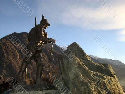Mountain Climber Bronze Statue