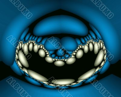 Laughing blue reptile