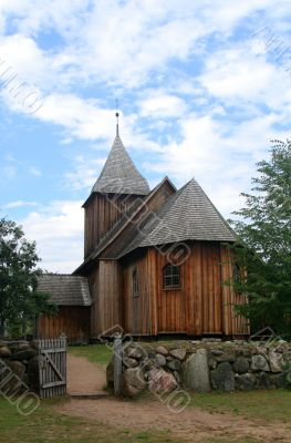 old historic wooden church