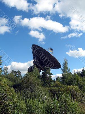 A large satellite dish.