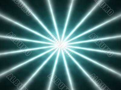 Neon blue 16 point star