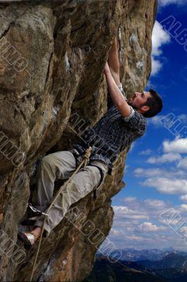 Climber closeup