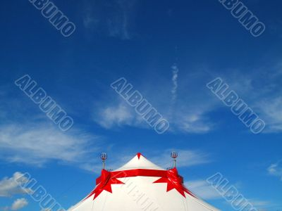 Big top circus and blue sky