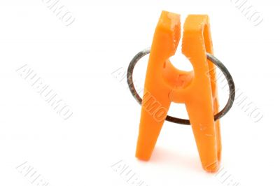 orange clothes peg