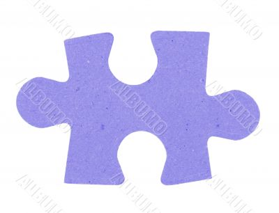 puzzle piece on pure white background
