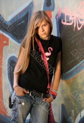 The girl - teenager