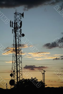Communications Tower and Power Lines