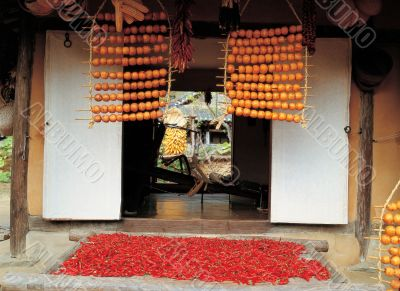 Drying Vegetables in Traditional House
